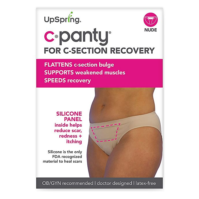 Alternate image 1 for Upspring C-Panty Classic Waist C-Section Recovery Panty in Nude