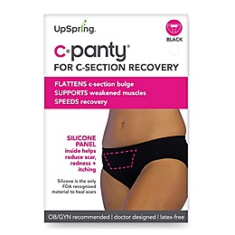 Upspring C-Panty Classic Waist C-Section Recovery Panty in Black