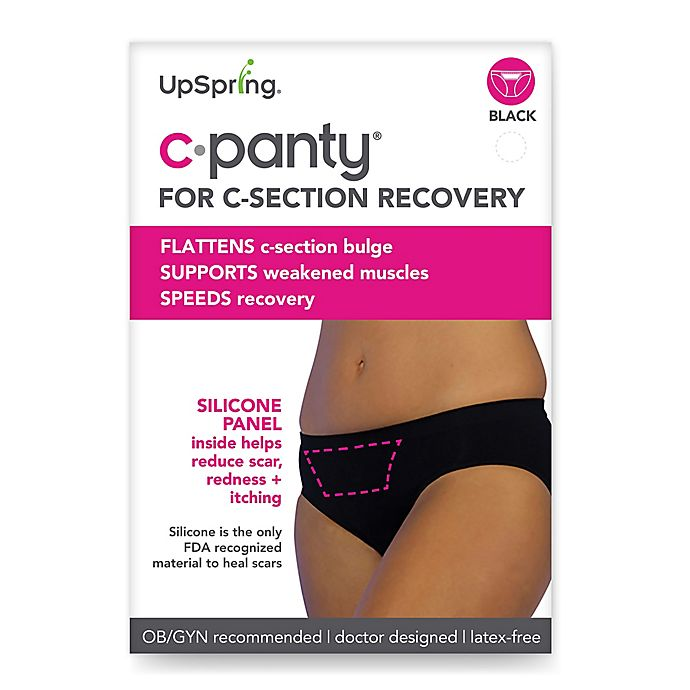 Alternate image 1 for Upspring C-Panty Classic Waist C-Section Recovery Panty in Black