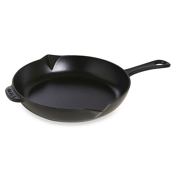 Alternate image 1 for Staub Cast Iron 10-Inch Fry Pan in Dark Blue