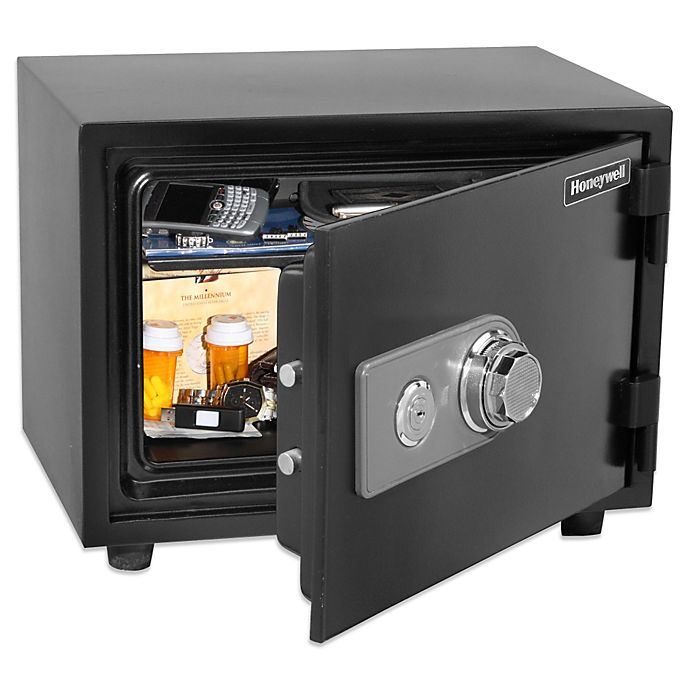 Alternate image 1 for Honeywell Small Water Resistant Fire and Theft Safe