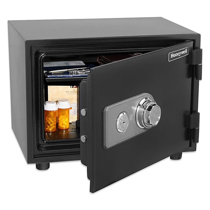 Alternate image 1 for Honeywell Water Resistant Fire and Security Safe