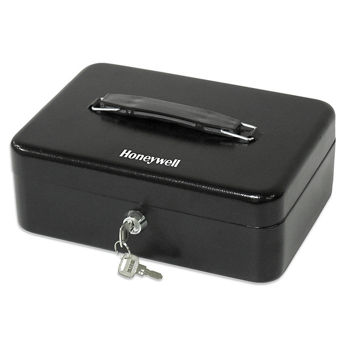 Alternate image 1 for Honeywell Standard Steel Cash Box