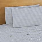 220-Thread-Count 100% Cotton Queen Sheet Set in Navy Stripes