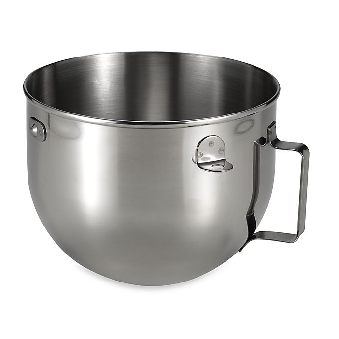 Alternate image 1 for KitchenAid® 5 qt. Polished Stainless Steel Narrow Bowl with Handle