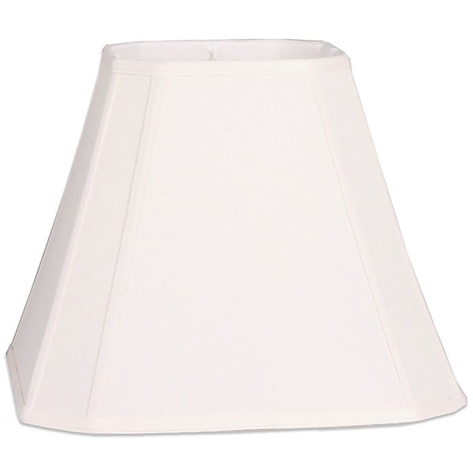 Mix Match Large 16 Inch Cut Corner Square Lamp Shade In Ivory