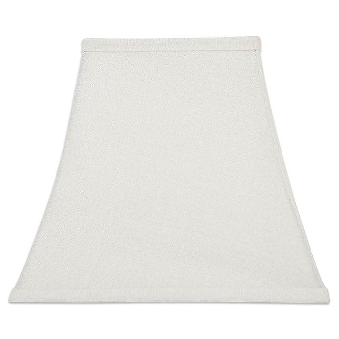 Alternate image 1 for Medium 13-Inch Square Corner Lamp Shade in White