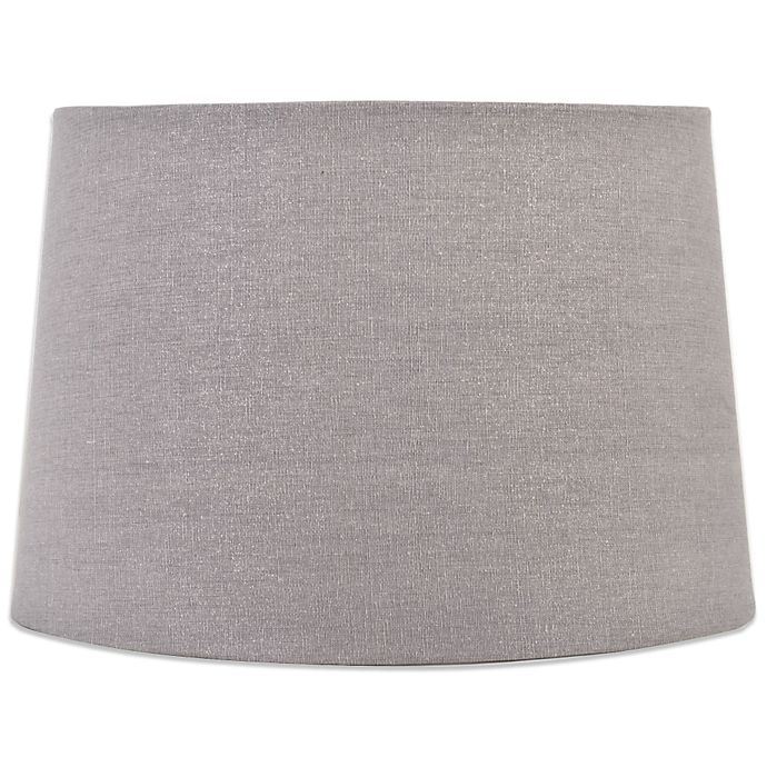 Mix Match Large 15 Inch Sparkle Drum Lamp Shade In Grey
