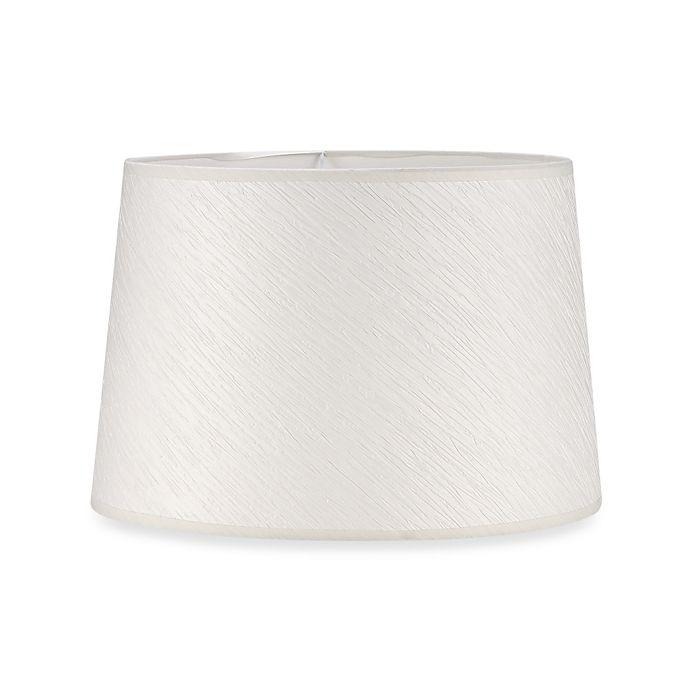 Medium 15 Inch Crinkle Paper Hardback Drum Lamp Shade In White Bed Bath Beyond