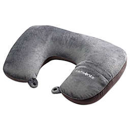 Samsonite Magic 2-in-1 Travel Pillow with Pocket in Charcoal