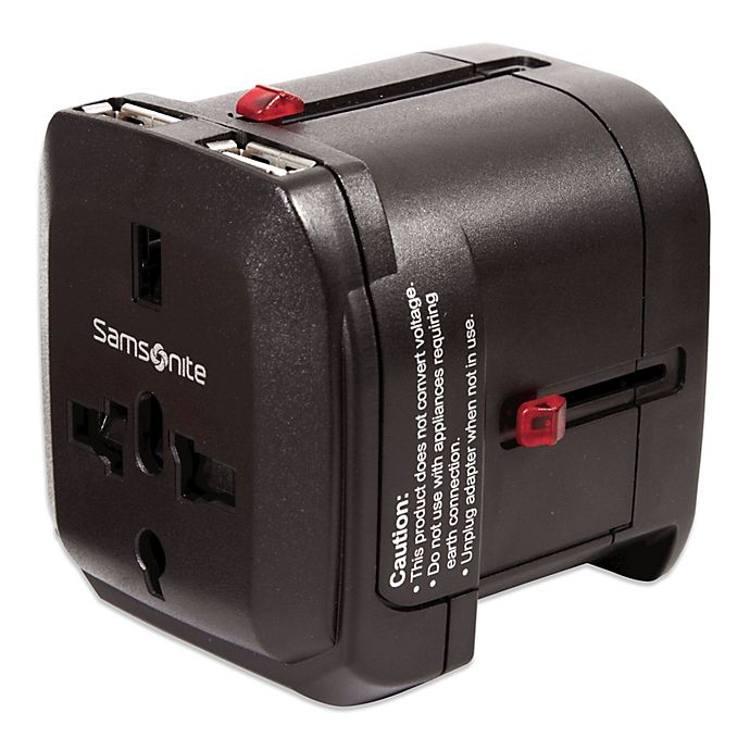 Alternate image 1 for Samsonite® Worldwide Travel Adapter with Dual USB