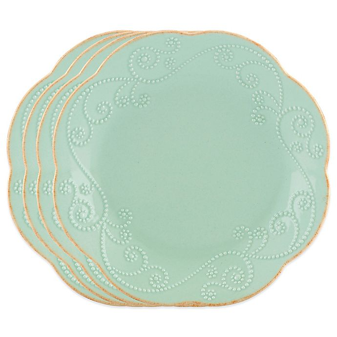 Alternate image 1 for Lenox® French Perle™ Dessert Plates in Ice Blue (Set of 4)