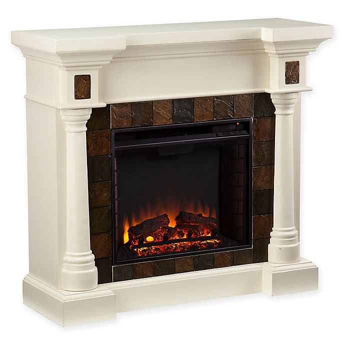 Alternate image 1 for Southern Enterprises Carrington Convertible Electric Fireplace in Ivory