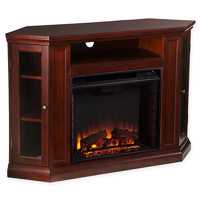 Alternate image 1 for Southern Enterprises Claremont Convertible Media Fireplace in Cherry