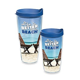 "Tervis® ""Life is Better at the Beach"" Wrap Tumbler with Lid"