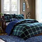 Brody 4-Piece Full/Queen Comforter Set in Blue