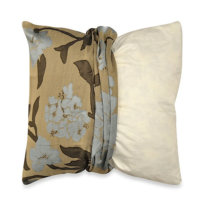 Alternate image 1 for MYOP Gardenia Square Throw Pillow Cover in Blue