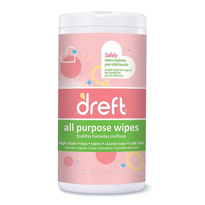 Alternate image 1 for Dreft 70-Count All Purpose Wipes