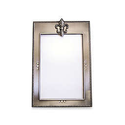 All for Giving 4-Inch x 6-Inch Fleur de Lis Picture Frame