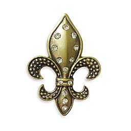 All for Giving Antique Brass Fleur de Lis Candle Pin