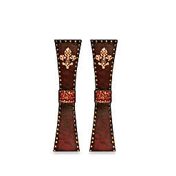 All for Giving 14-Inch Fleur de Lis Candlestick Holder