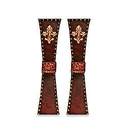 All for Giving 18-Inch Fleur de Lis Candlestick Holder