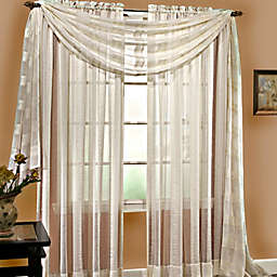 Linen Sheer 6-Yard Window Scarf in Ivory