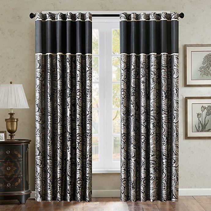 Alternate image 1 for Aubrey 84-Inch Window Curtain Panel in Black
