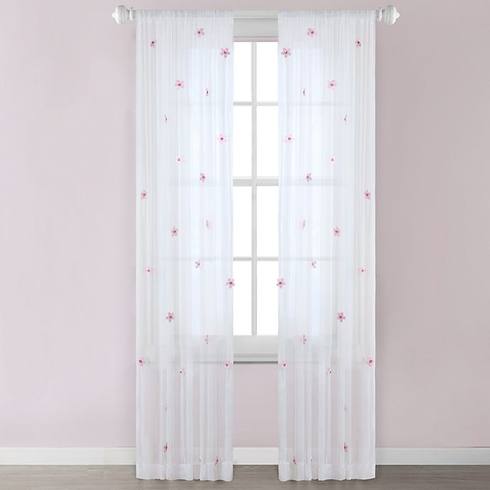 Alternate image 1 for Lily Window Curtain Panel in Cream