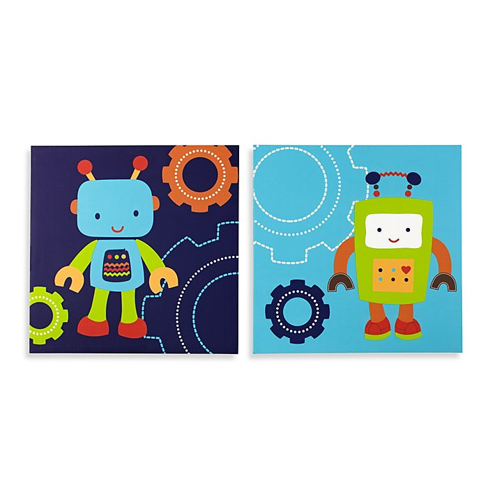 NoJo® Baby Bots Wall Art (Set of 2) | buybuy BABY