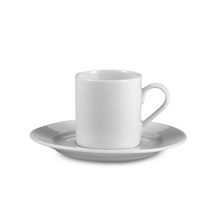 Alternate image 1 for Everyday White® by Fitz and Floyd® Rim Demitasse Cup and Saucer