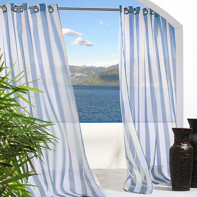 Alternate image 1 for Escape Stripe Grommet Window Curtain Panel