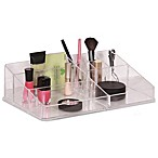 Clear 9-Compartment Cosmetic Tray