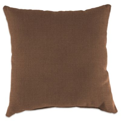 Outdoor 18 Inch Square Throw Pillow In Husk Texture