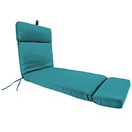 72-Inch x 22-Inch Chaise Lounge Cushion in Husk Texture Lagoon