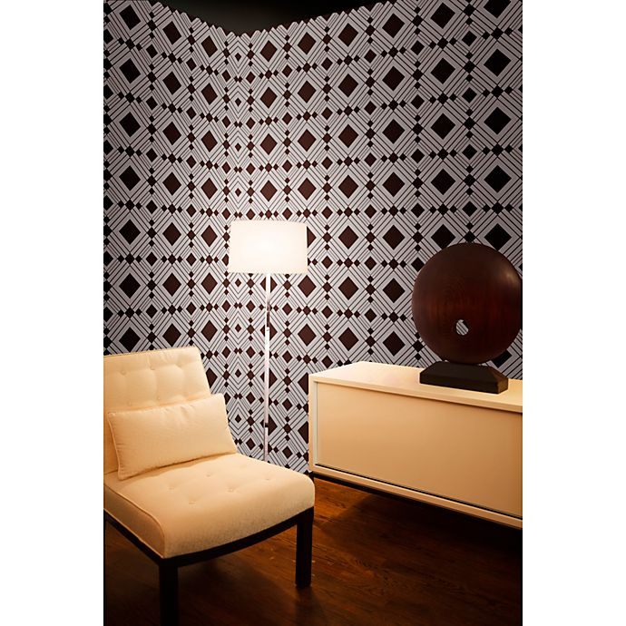 Alternate image 1 for Tempaper® Removable Wallpaper in Diamond Chocolate