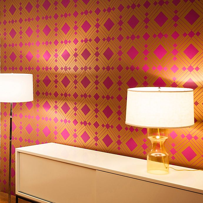Alternate image 1 for Tempaper® Double Roll Removable Wallpaper in Diamond Violet
