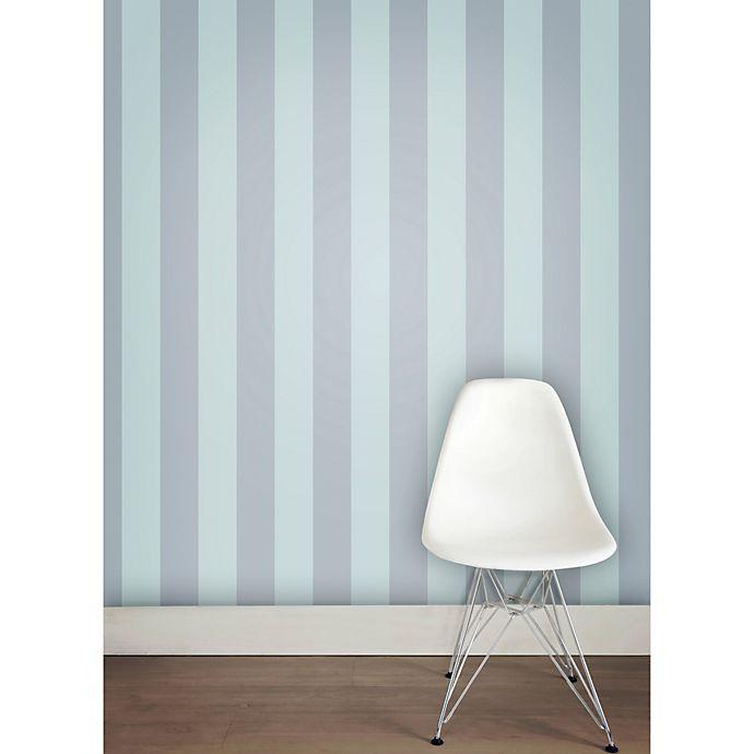 Alternate image 1 for Tempaper® Double Roll Removable Wallpaper in Stripe Blue