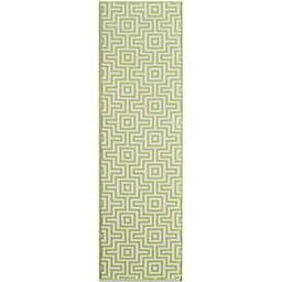 Baja 2-Foot 3-Inch x 7-Foot 6-Inch Indoor/Outdoor Rug in Green