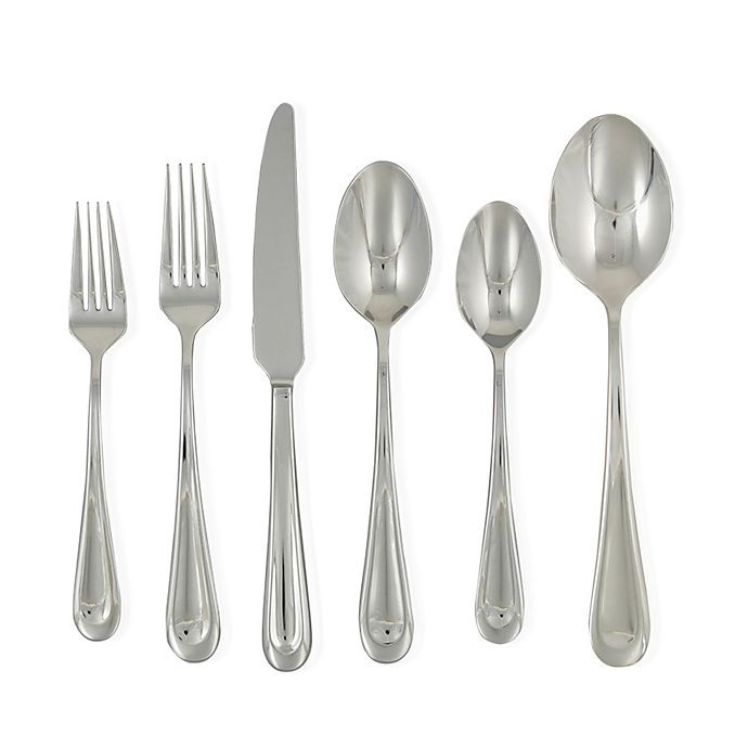 Alternate image 1 for Ginkgo Corrie 42-Piece Stainless Steel Flatware Set