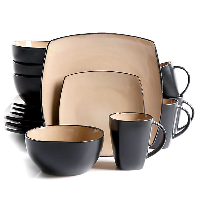 Alternate image 1 for Gibson Home Amalfi 16-Piece Dinnerware Set in Taupe