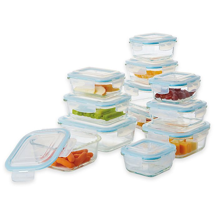 Alternate image 1 for Pro Glass 24-Piece Food Storage Set with Easy Snap Lids