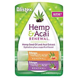 Blistex® 2-Pack 0.15 oz. Hemp & Acai Renewal Lip Moisturizers