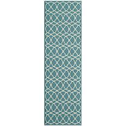 Momeni Baja Indoor/Outdoor 2-Foot 3-Inch x 7-Foot 6-Inch Rug in Blue