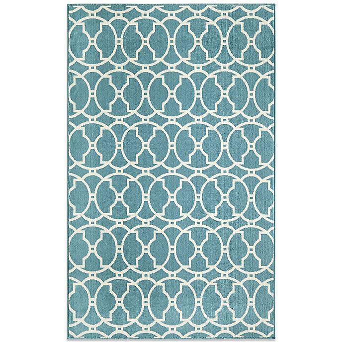 Alternate image 1 for Momeni Baja Indoor/Outdoor Rug in Blue