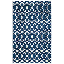 Momeni Baja 7'10 x 10'10 Indoor/Outdoor Area Rug in Indigo