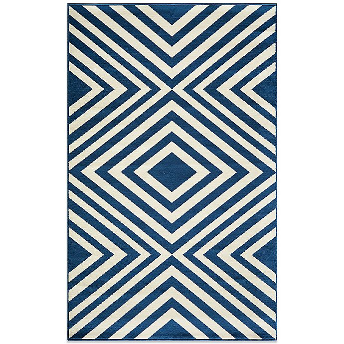Alternate image 1 for Momeni Baja Indoor/Outdoor Rug in Navy