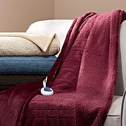 Beautyrest® Berber Solid Microlight Heated Throw Blanket