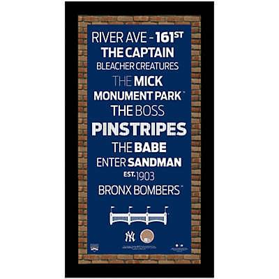Steiner MLB New York Yankees Framed Wall Art 9.5-Inch x 19-Inch Subway Sign