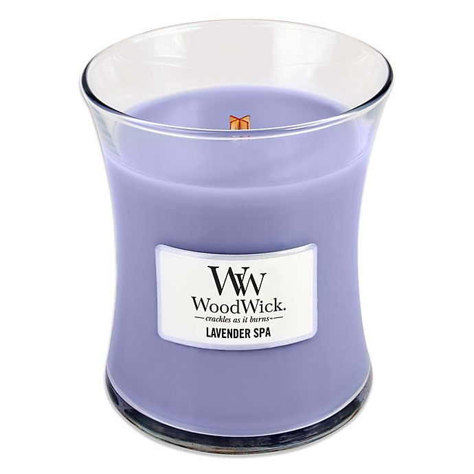 Alternate image 1 for WoodWick® Lavender Spa Medium Jar Candle